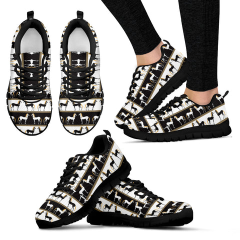 Black and white Women's Sneakers