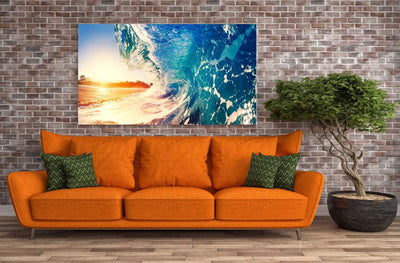 Large Canvas Wall Art Decor Contemporary Abstract Modern Art - Catch Life's Wave Canvas Print