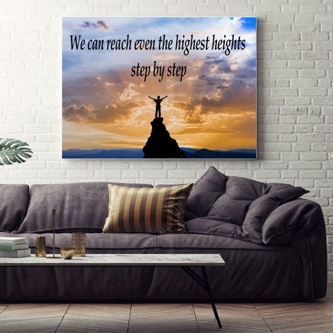 Large Canvas Modern  Wall Art  - We Can Reach Even the Highest Heights Step by Step Canvas Print
