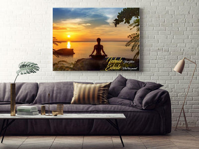 Large Canvas Modern Wall Art Home Decor - Inhale Your Future, Exhale What Has Passed Canvas Print