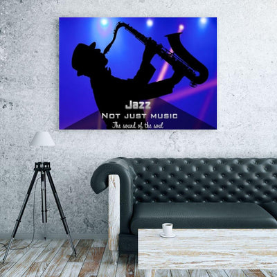 Large Canvas Modern Abstract Wall Art - Jazz Is Not Just Music, It's The Sound Of The Soul Print