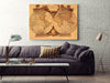 Large Canvas Modern Wall Art Home Decor - Vintage World Map Canvas Print