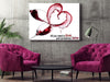 Large Canvas Modern Abstract Wall Art - All you Need is Love and Sometimes Wine Canvas Print