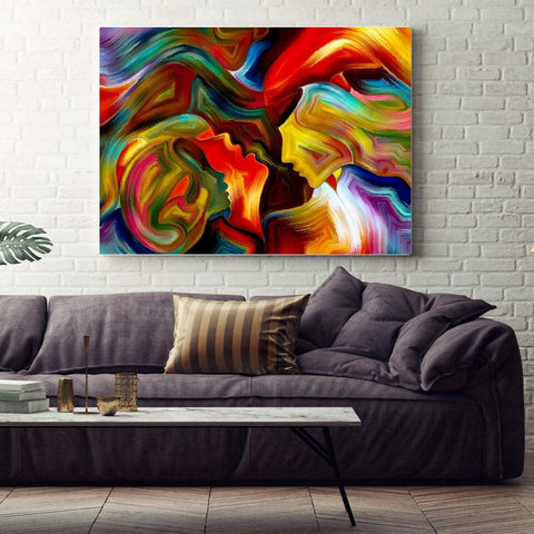 Large Canvas Wall Art Decor Contemporary Abstract Modern Art - Life of Passion Canvas Print