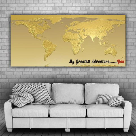 Large Canvas Modern Abstract Wall Art Home Decor - My Greatest Adventure .......You Canvas Print