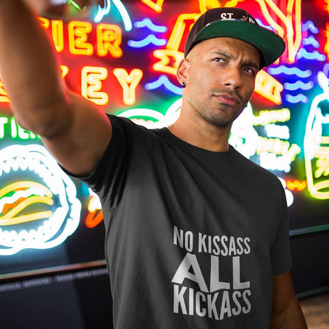No Kissass All Kickass Short Sleeve Unisex T-Shirt