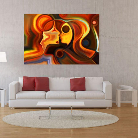 Large Canvas Wall Art Decor Contemporary Abstract Modern Art - Our Love Matters Most Canvas Print