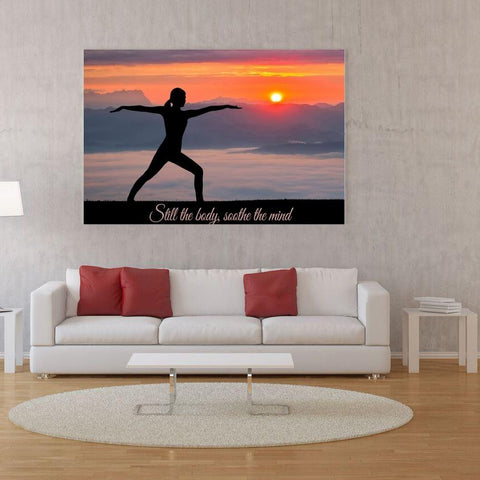 Large Canvas Modern Wall Art Home Decor - Still the Body Soothe the Mind Canvas Print