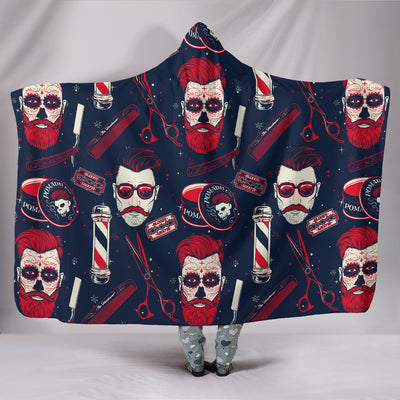 BARBER HOODED BLANKET