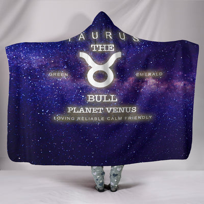 NP Zodiac Taurus Hooded Blanket