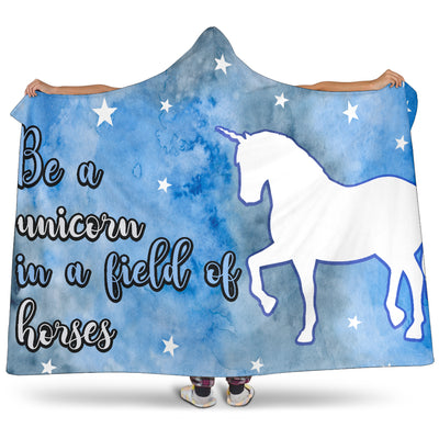 Be A Unicorn Hooded Blanket