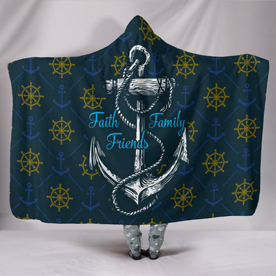 FAITH FAMILY FRIENDS HOODED BLANKET