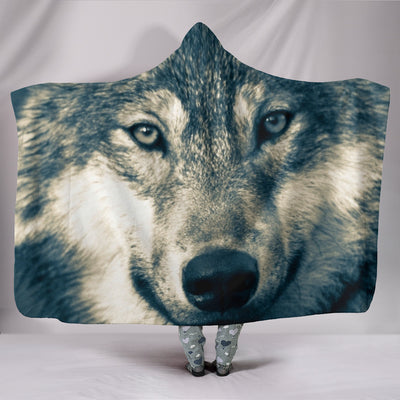 Wolf Head Hooded Blanket
