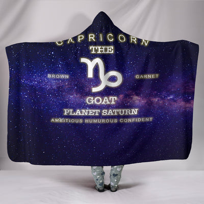 NP Zodiac Capricorn Hooded Blanket