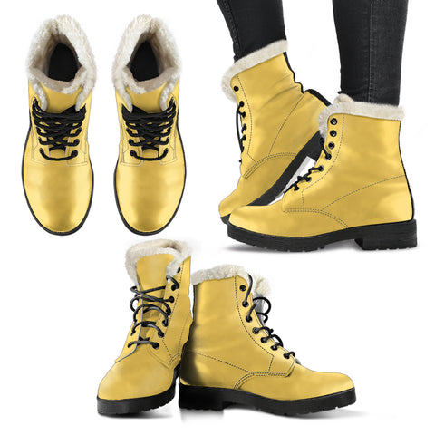 Aspen Gold - Faux Fur Leather Boots
