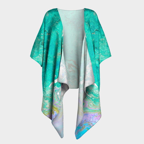 In the Ocean Draped Kimono