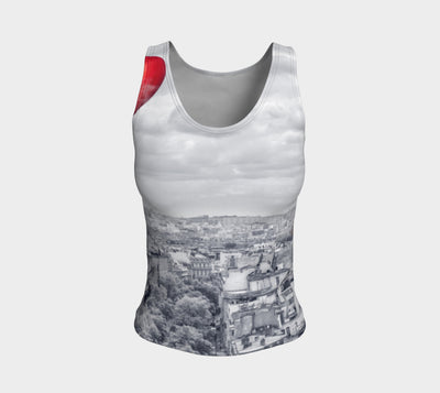 Love in Paris Fitted Vest Top Regular Length