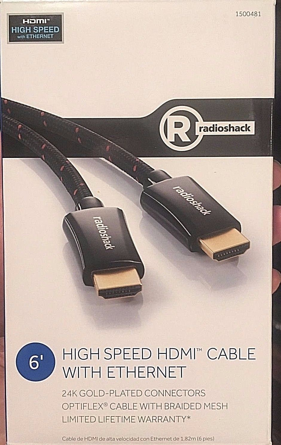 HDMI Cable 6 FT - Braided Cord High Speed HDMI w/Ethernet - Gold Plated