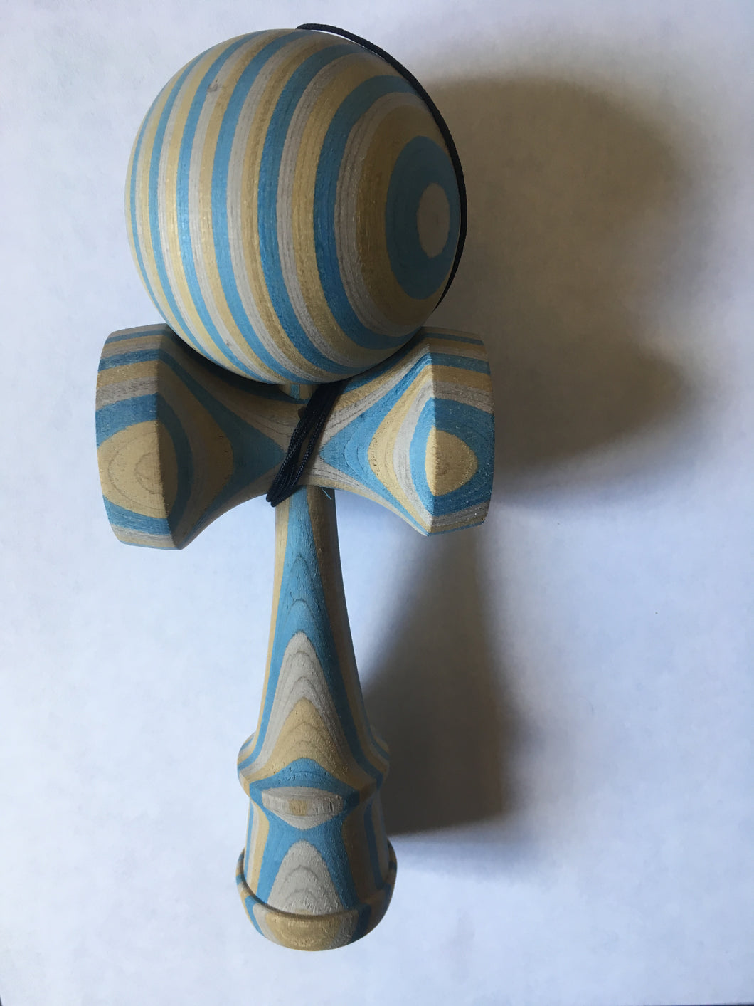 Blue Spectraply Kendama, 18CM Kendama,Classical Detachable Kendama NO Rivet Ken