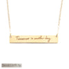 Handwriting Mantra Bar Necklace