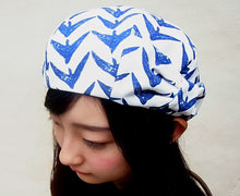 evo-see Handmade light weight RIBBON HAT Toriya-kasuri pattern by Tetra-milieu