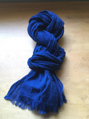 Finest Italian Linen mixed: Indigo Stole - Indigo Deep Blue - by 1883 18I2D