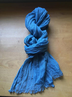 Finest Italian Linen mixed: Indigo Stole - Indigo Pale Blue - by 1883 18I1P