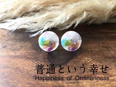 Roru Mari Abstract Painting Earring Happiness of Ordinariness