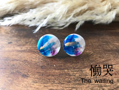 Roru Mari Abstract Painting Earring DOH-KOKU  The wailing