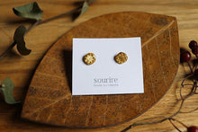 sourire brass accessory  pierced earrings / bordure ronde (round hemming)