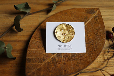 sourire brass accessory  brooch / planet ronde(planet round)