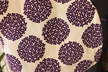 Bachica 3-way and reversible RICE BAG Small Flowers White x Purple