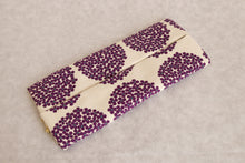 Bachica 3-way OTOFU POUCH size L Small Flowers White x Purple