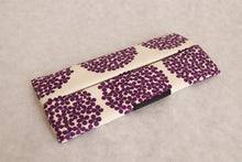 Bachica 3-way OTOFU POUCH size M Small Flowers White x Purple
