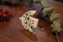 migiwa motohashi pottary accessories Tori-brooch wings MMBM05