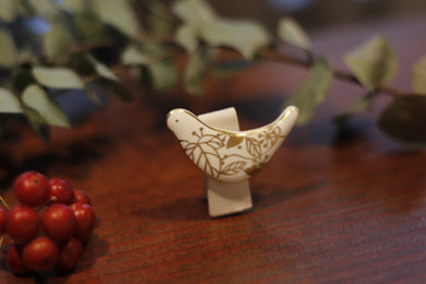 migiwa motohashi pottary accessories Tori-brooch fold-wings MMBS03