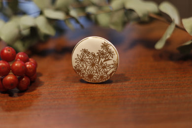 migiwa motohashi pottary accessories Round-brooch MMBR03