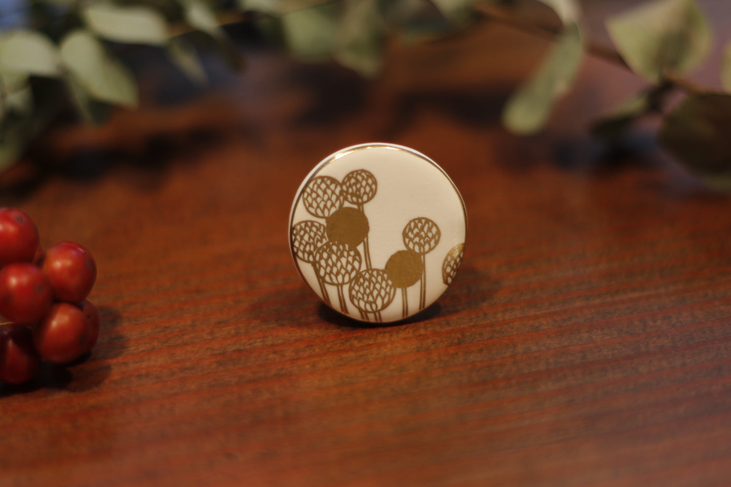 migiwa motohashi pottary accessories Round-brooch MMBR01
