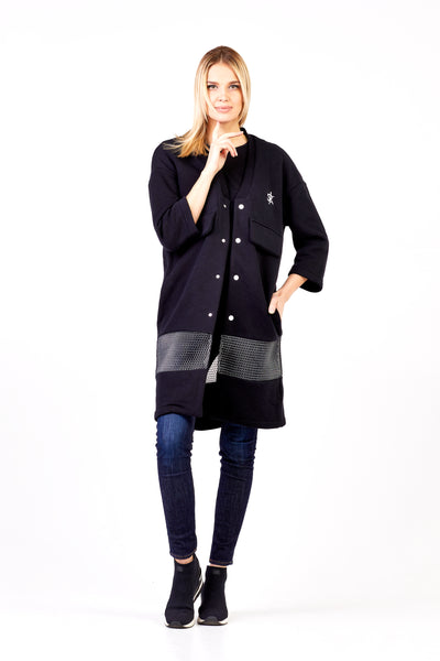 Sofa Killer black long kimono jacket