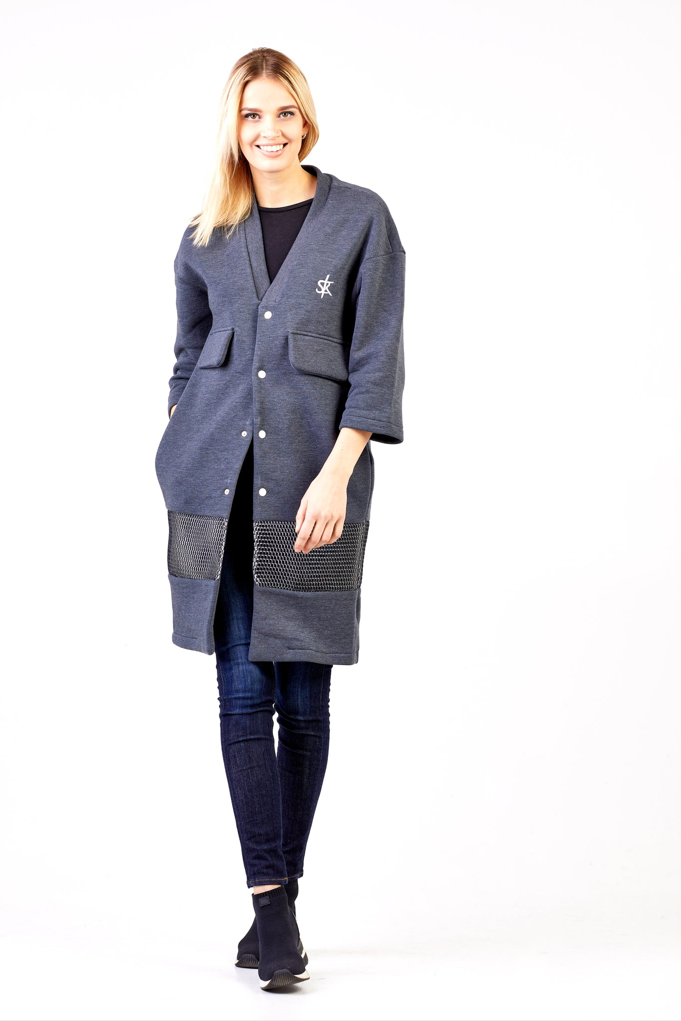 Sofa Killer dark grey long kimono jacket