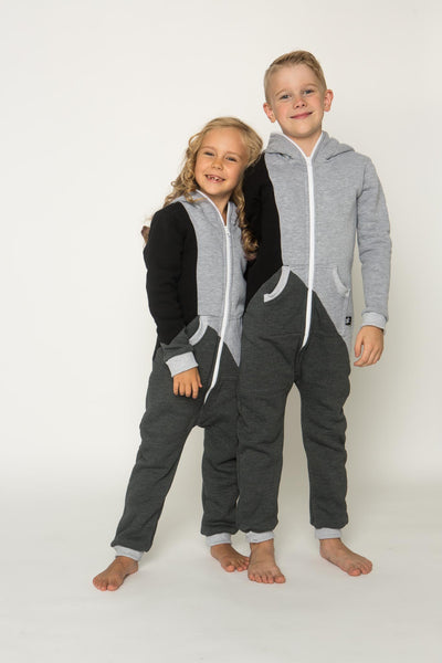 Sofa Killer tricolor unisex kids onesie Grey