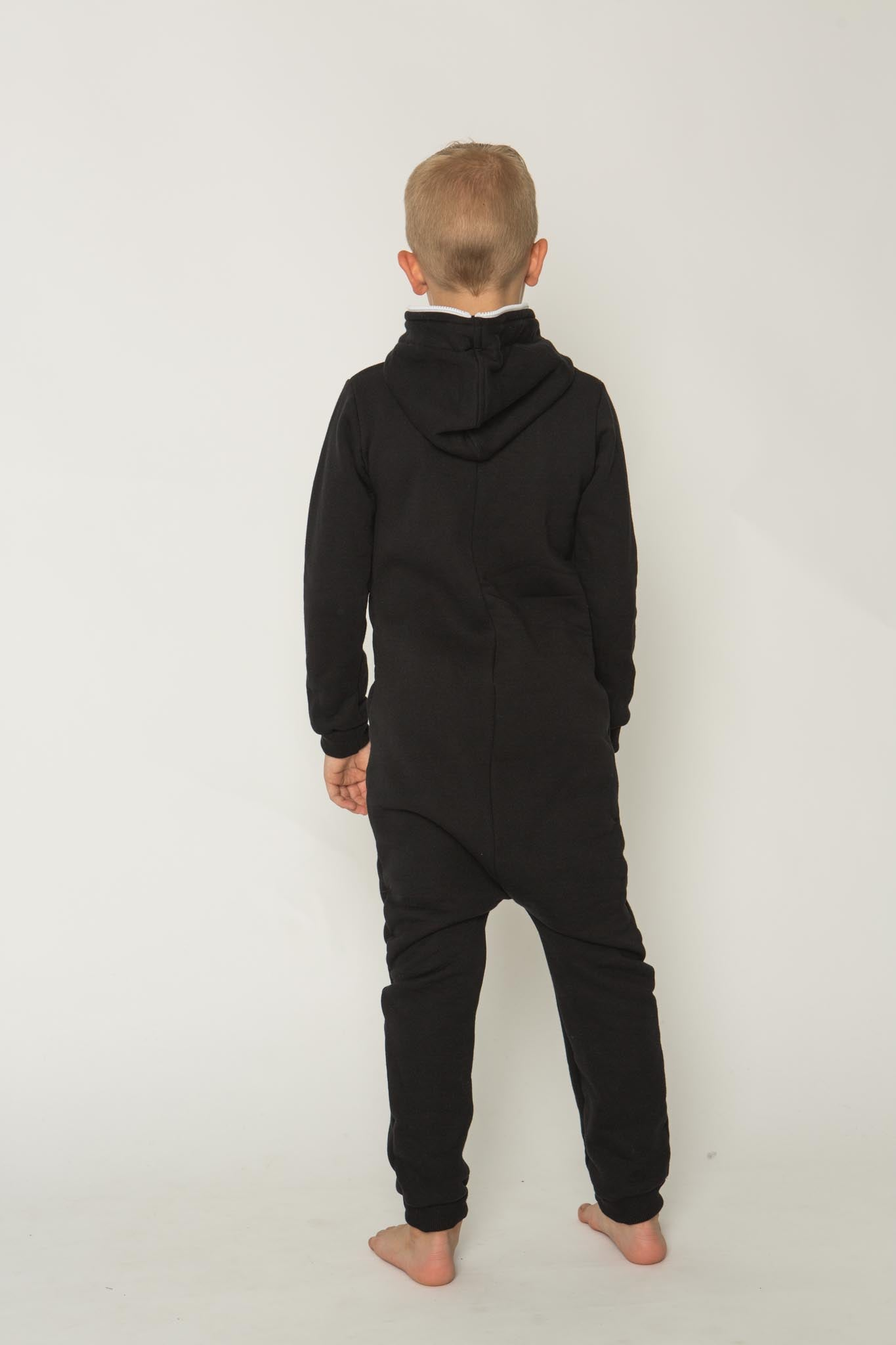 Sofa Killer black unisex kids onesie with black cuffs