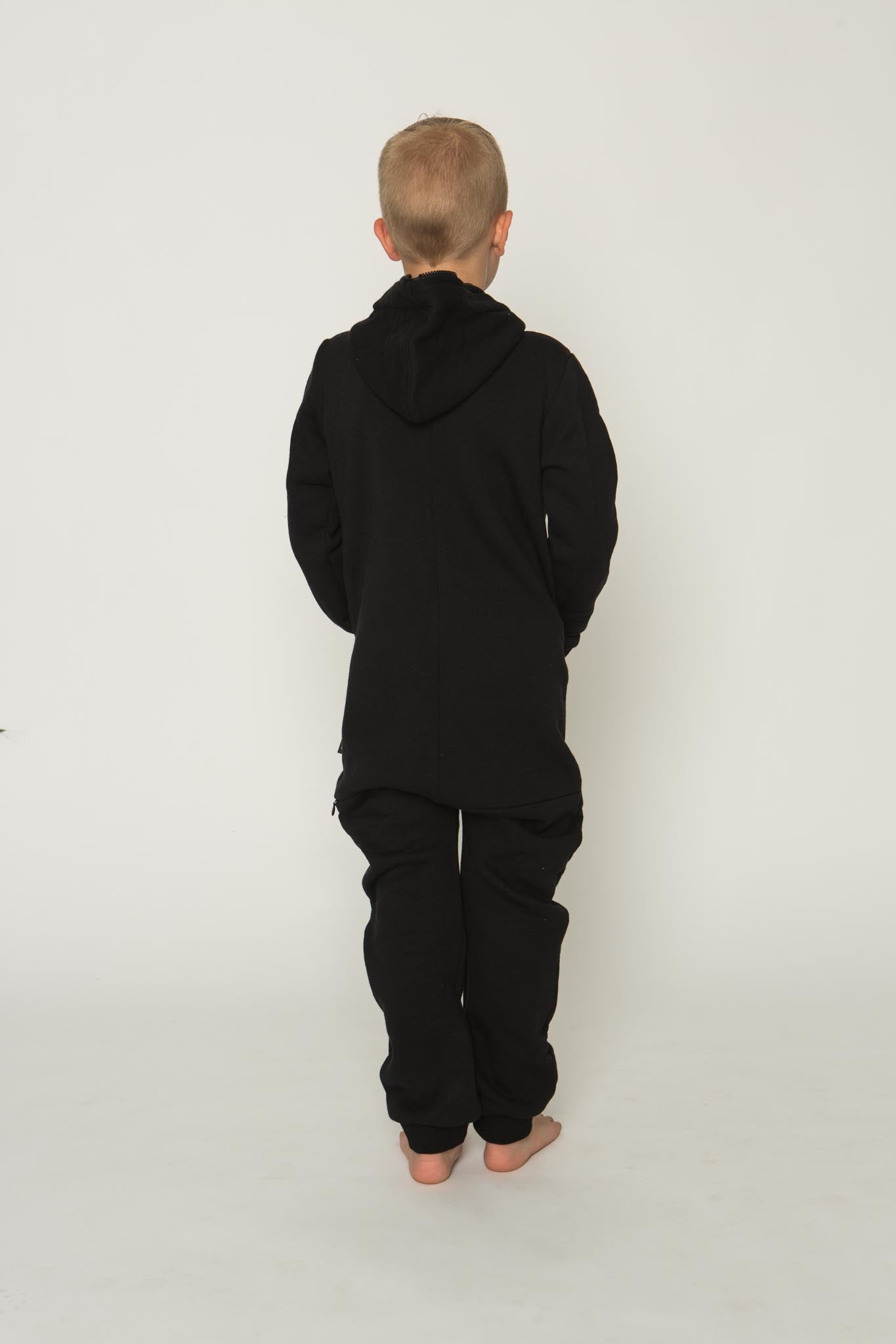 Sofa Killer black unisex kids onesie with zipper in the back
