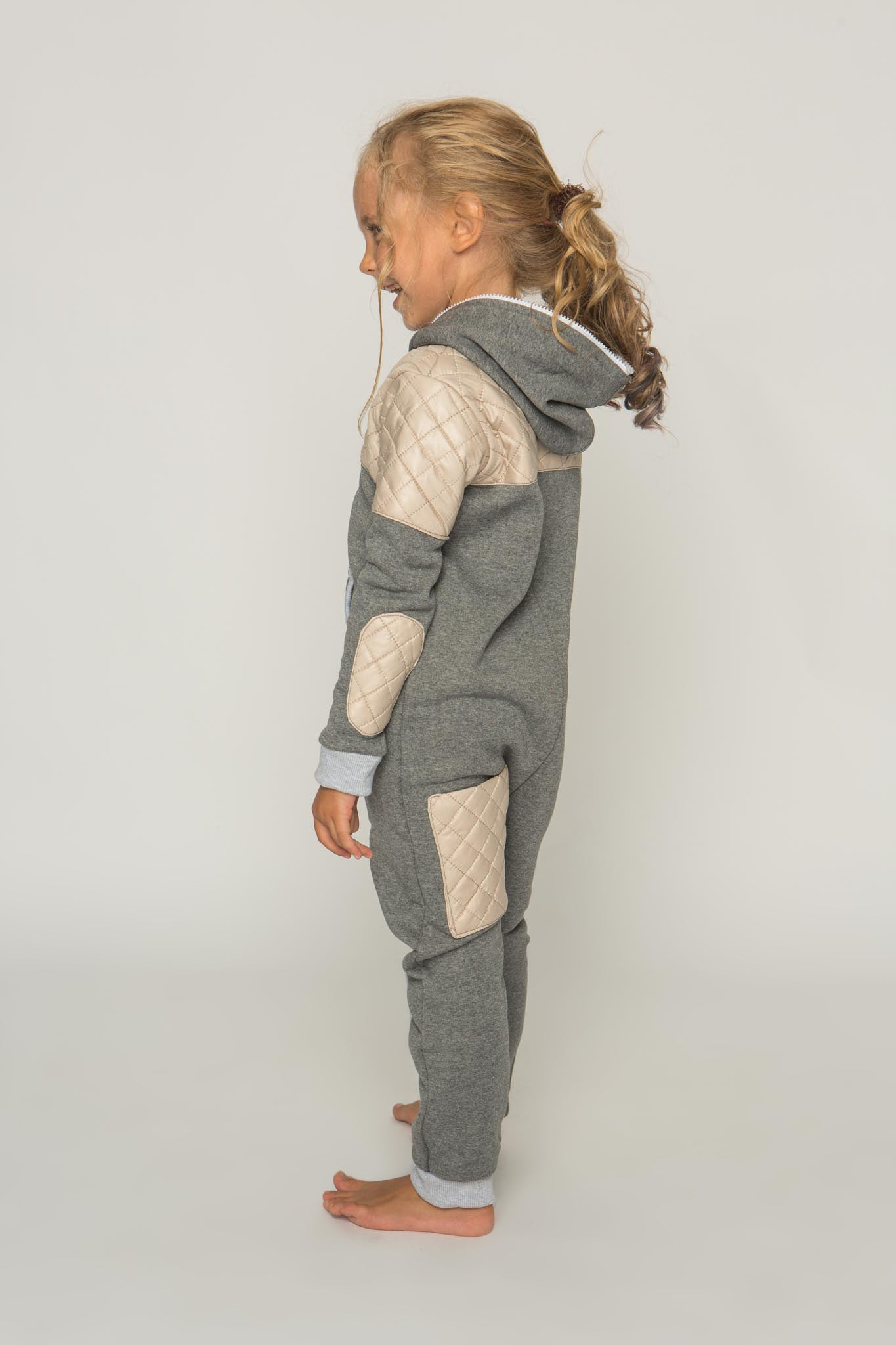 Sofa Killer grey unisex kids onesie Creamy