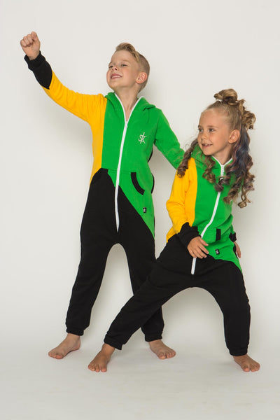 Sofa Killer tricolor unisex kids onesie Jamaica