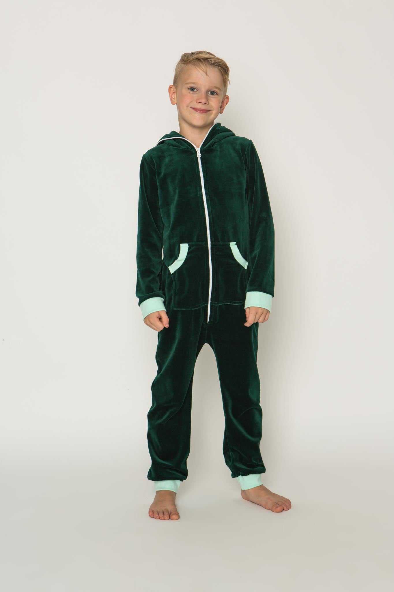 Sofa Killer emerald green unisex kids velours onesie