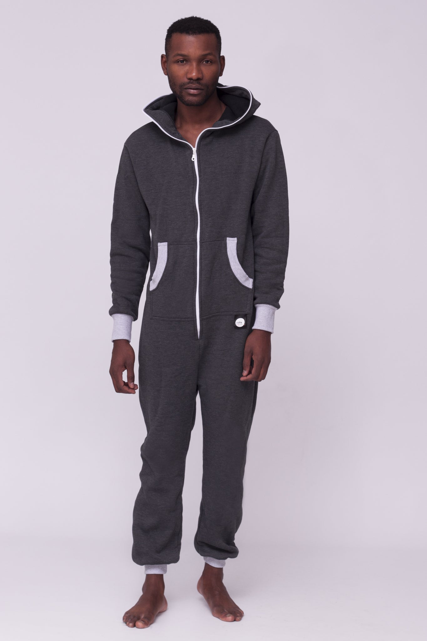 Sofa Killer dark grey onesie with grey cuff