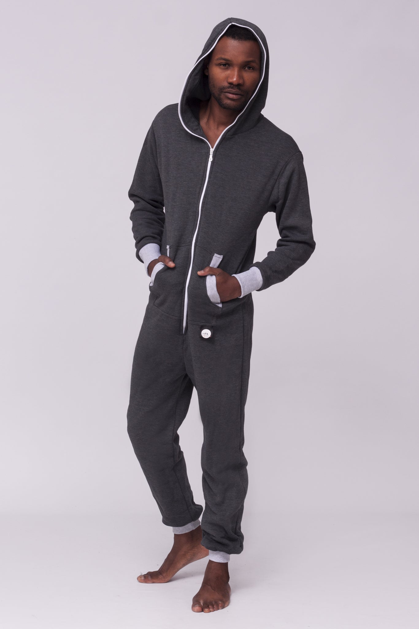 szary men Onesie Sofa Killer