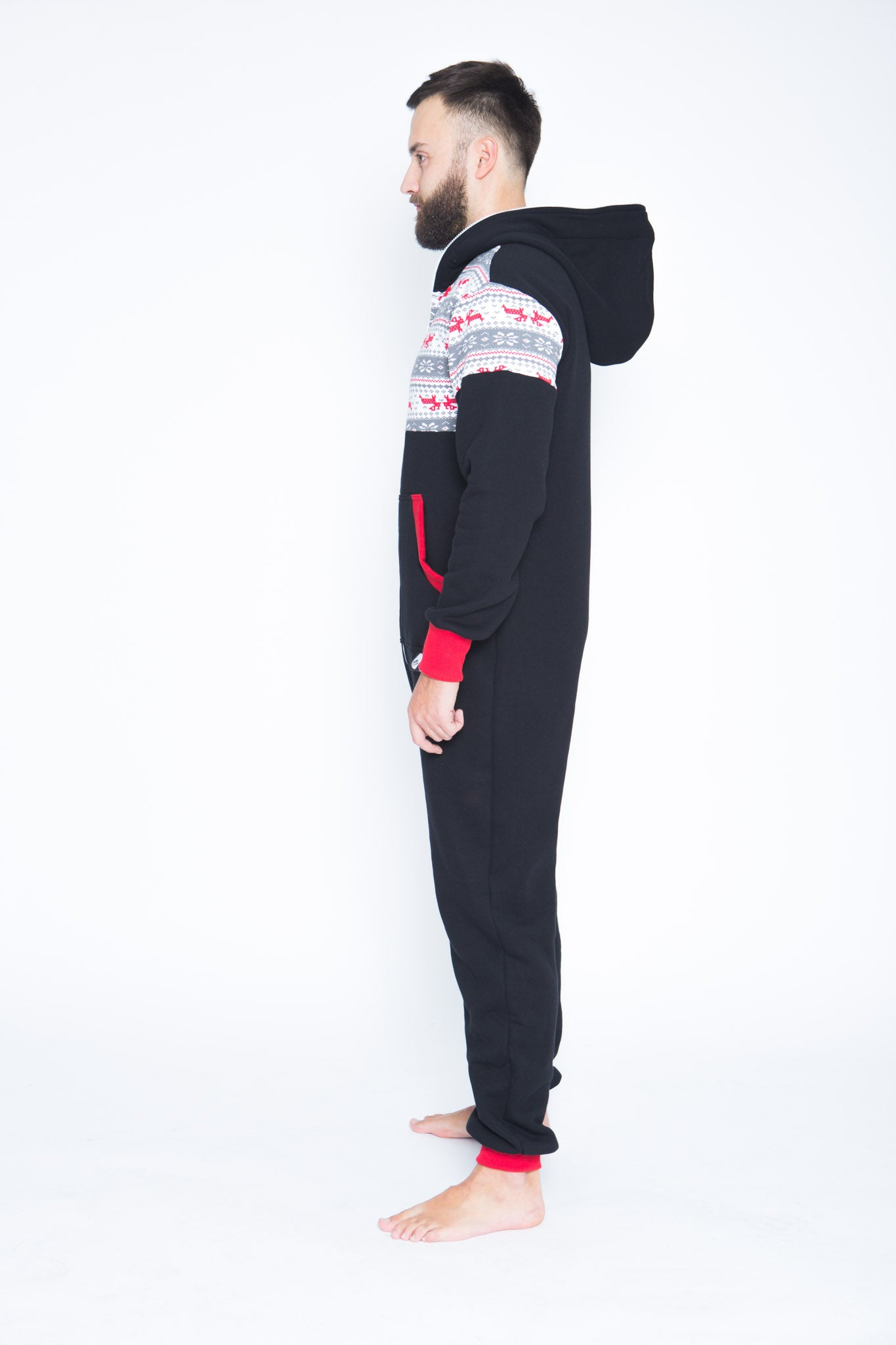 black men onesie with nordic aplication