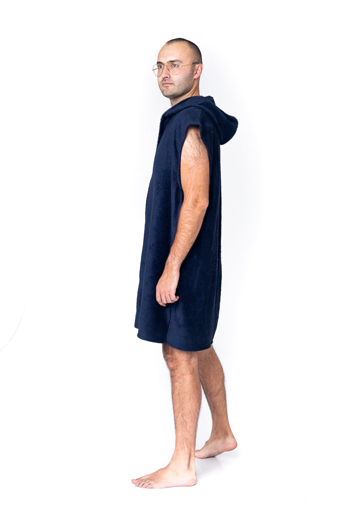Sofa Killer dark blue bamboo frottee men poncho